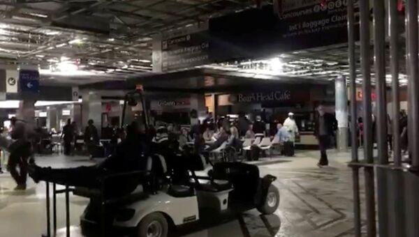 Аэропорт Атланты во время отключения электроэнергии 17 декабря 2017 года