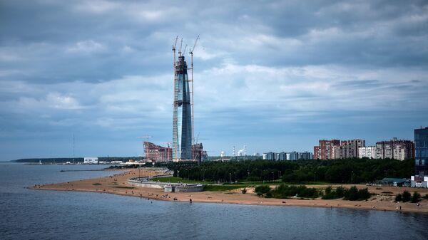 Строительство делового комплекса Лахта-центр в Санкт-Петербурге