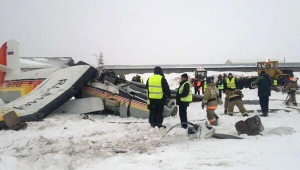 Ликвидация последствий падения самолёта Ан-2 в аэропорту Нарьян-Мара. 19 декабря 2017