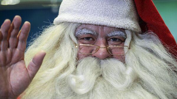 Гость из Лапландии, финский Дед Мороз – Йоулупукки в аэропорту Пулково