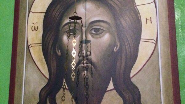 Икона Спаса Нерукотворного в Покровском храме села Лещенка