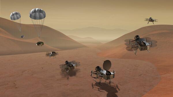 Ядерная стрекоза DragonFlight на поверхности Титана