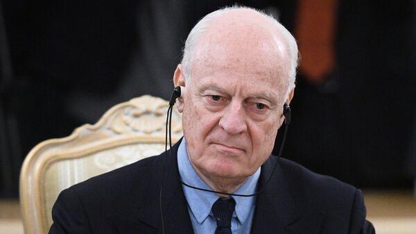 Спецпредставитель Генерального секретаря ООН по Сирии Стаффан де Мистура. Архивное фото