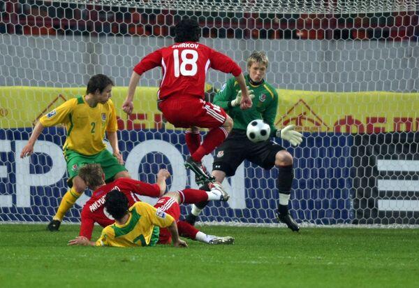 Отборочный матч ЧМ-2010 по футболу Россия - Уэльс