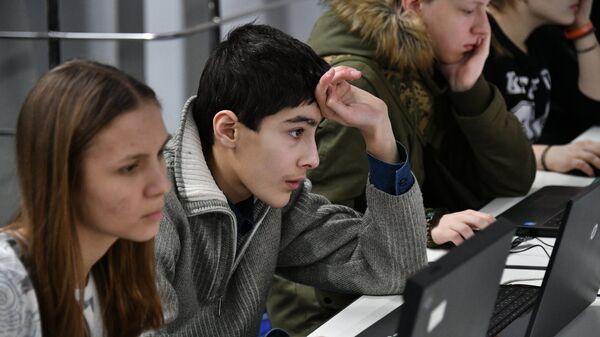 Студенты на форуме Московский день профориентации и карьеры в Москве