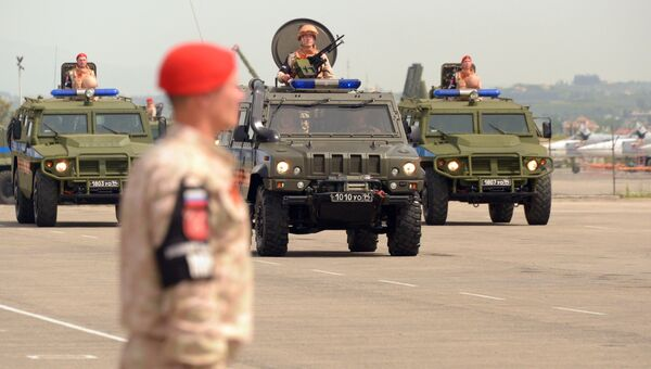 Военный парад на российской авиабазе Хмеймим