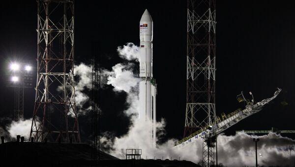 С космодрома Байконур выполнен пуск ракеты-носителя Зенит-3Ф с разгонным блоком Фрегат и КА Ангосат. 26 декабря 2017