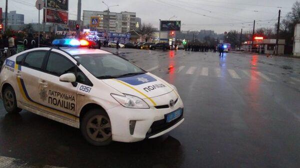 Сотрудники правоохранительных органов в Харькове