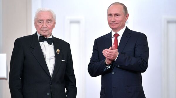 Юрий Григорович и Владимир Путин