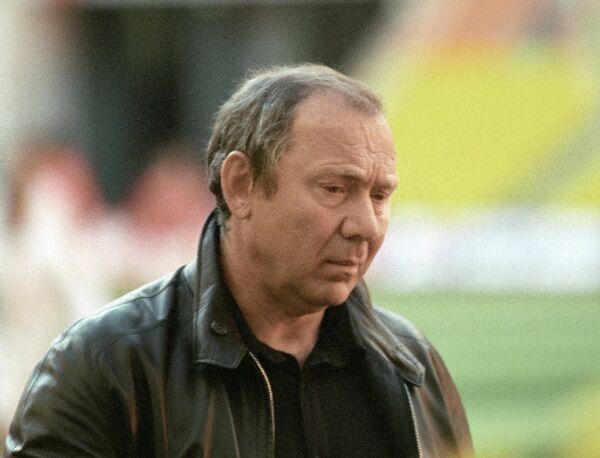 Тренер футбольной команды «Спартак» Олег Романцев