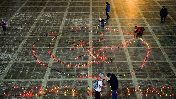 Участники акции против абортов Один из нас в Екатеринбурге