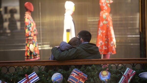 Посетители в ГУМе в Москве