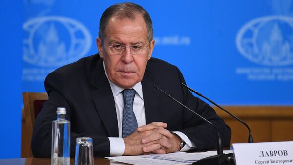 Министр иностранных дел России Сергей Лавров. 15 января 2018