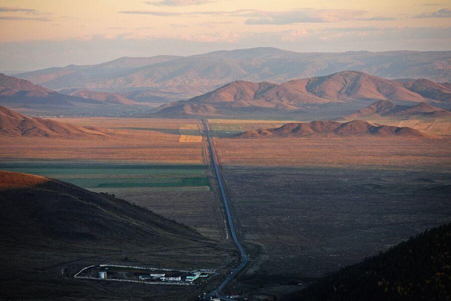 Автомобильная дорога в Республике Тыва