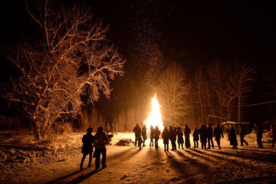 Во время встречи нового года по лунному календарю в Кызыле