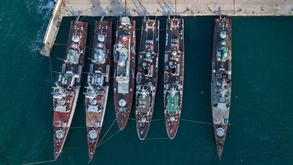Военные корабли, которые ранее входили в состав военно-морских сил Украины. Архивное фото
