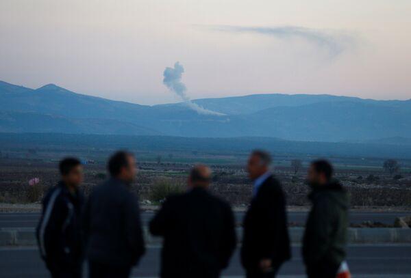Вид на Африн из турецкого города Хасса