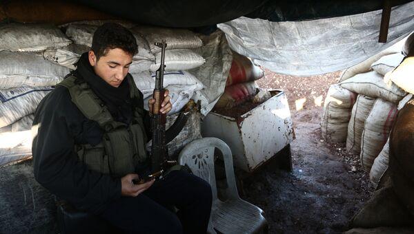 Бойцы Свободной сирийской армии в районе Африна