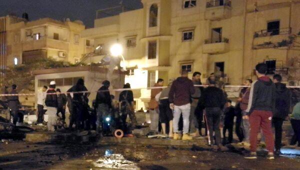 На месте взрыва в Бенгази, Ливия. 23 января 2018