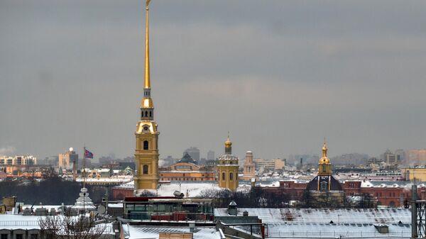 Вид на Петропавловскую крепость в Санкт-Петербурге