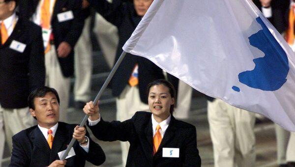 Спортсмены из Северной и Южной Кореи. Архивное фото