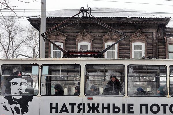 Деревянный дом в Иркутске