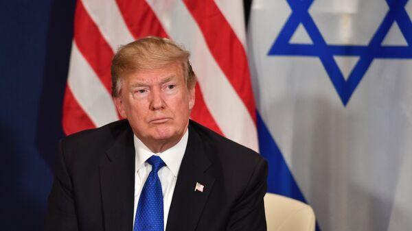 Президент США Дональд Трамп на Всемирном экономическом форуме в Давосе. 25 января 2018