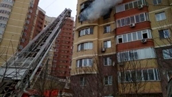 Пожар в многоквартирном жилом доме в Красногорске Московской области. 28 января 2018