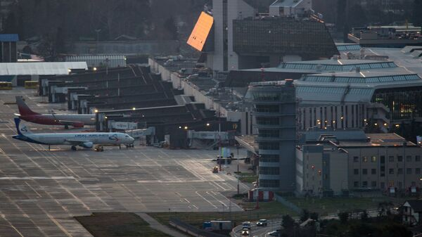 Самолеты в Международном аэропорту Сочи в Адлере