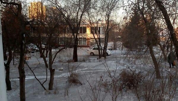 Черный снег, выпавший в Омске. 31 января 2018