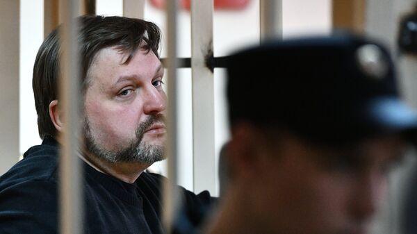 Экс-губернатор Кировской области Никита Белых во время оглашения приговора в Пресненском суде Москвы. Архивное фото