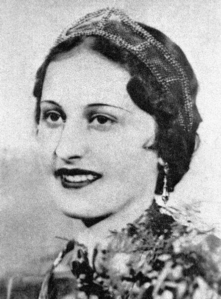 Победительница конкурса красоты Мисс Россия в 1934 году Екатерина Антонова