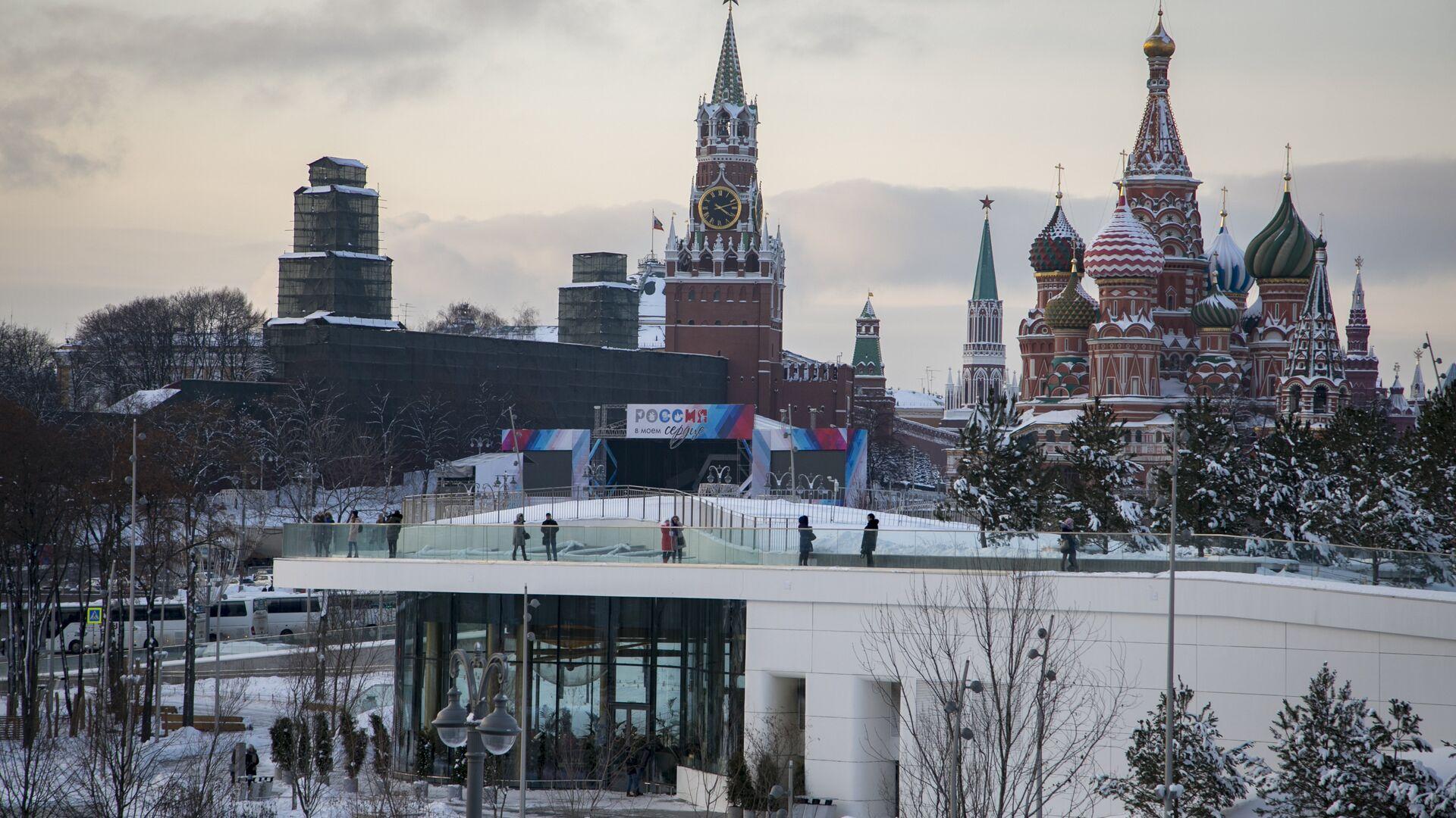Вид на Московский Кремль - РИА Новости, 1920, 23.12.2020