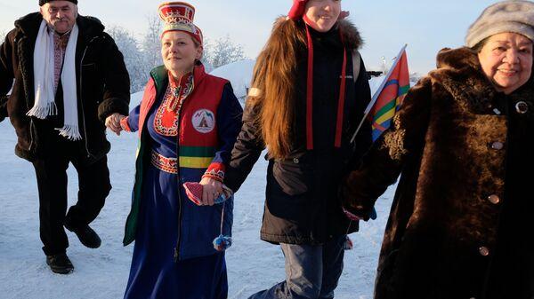Празднование международного дня саамов в Мурманской области. Архивное фото
