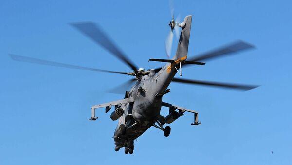 Вертолет Ми-8 АМТШ на учениях в Восточном Военном Округе