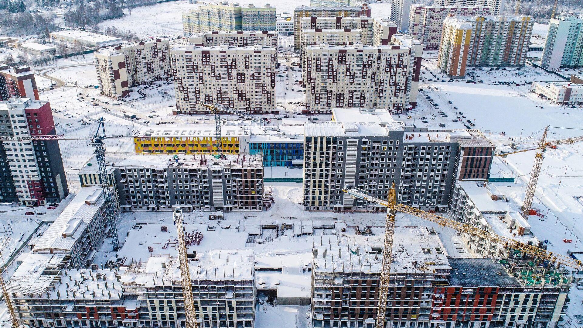 Строительство домов в Новой Москве - РИА Новости, 1920, 23.12.2020