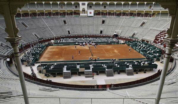Теннисный корт на Кубке Дэвиса