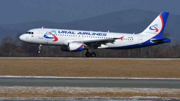 Самолет Airbus A320 авиакомпании Уральские авиалинии