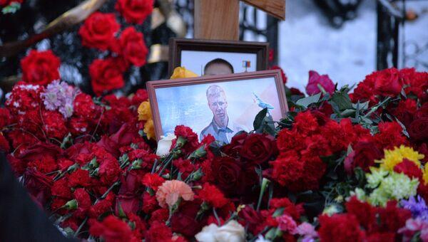 На церемонии прощания с летчиком Романом Филиповым в Воронеже. Архивное фото