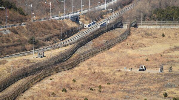 Корейская демилитаризованная зона в окрестностях уезда Косон-гун