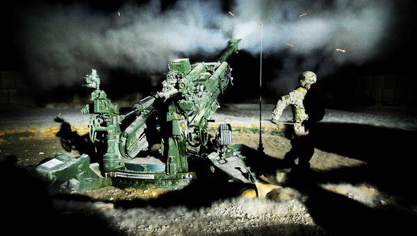 Американская полевая буксируемая гаубица калибра 155 миллиметров M777. Архивное фото