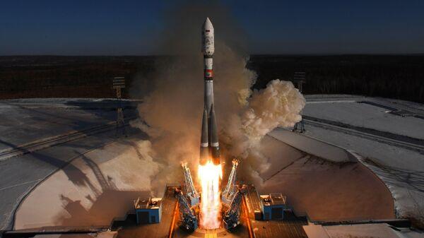 Старт ракеты-носителя Союз-2.1а
