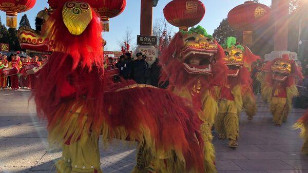 Празднование китайского Нового года в Китае. 16 февраля 2018