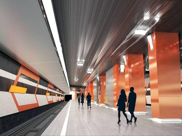 Визуализация проекта станции Боровское шоссе