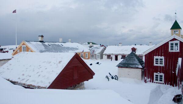 Город Вардё в Финнмарке, Норвегия. Архивное фото