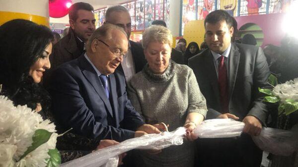 Министр образования и науки Российской Федерации Ольга Васильева во время торжественной церемонии открытия Международной школы в Захле. 20 февраля 2018