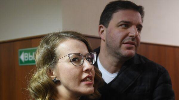 Ксения Собчак с супругом Максимом Виторганом