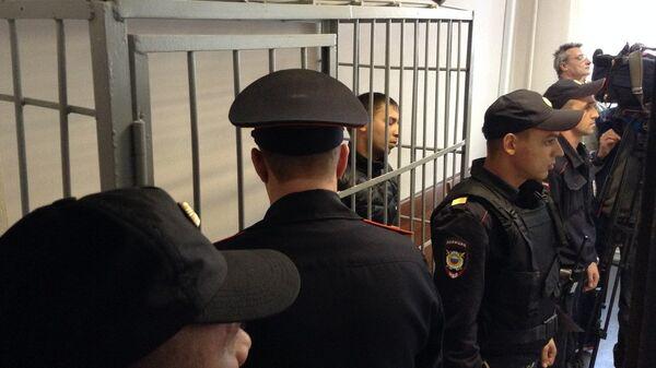 Подозреваемый в организации беспорядков в Екатеринберге Дмитрий Пестриков в зале суда