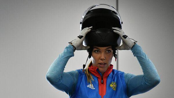 Надежда Сергеева во время тренировки