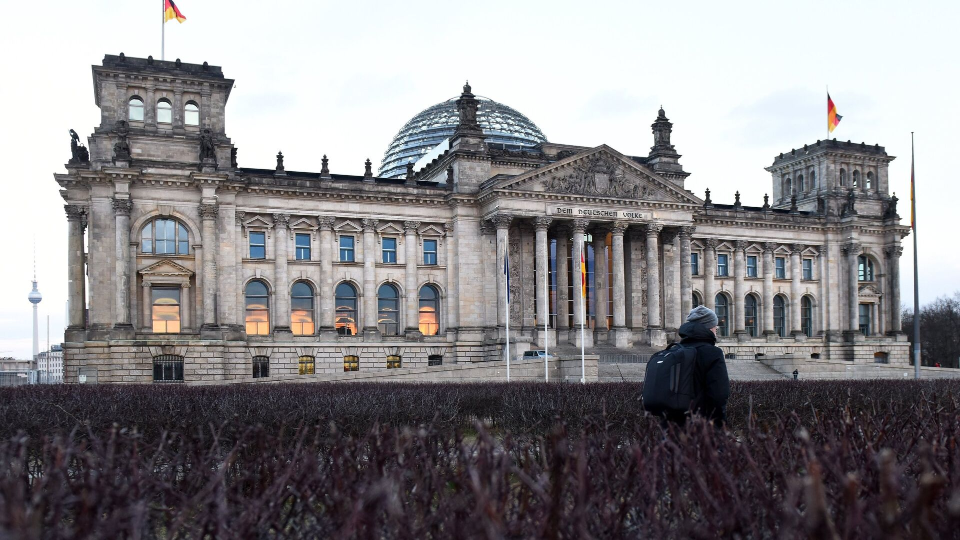 Историческое здание Рейхстага в центре Берлина на Парижской площади - РИА Новости, 1920, 21.01.2021